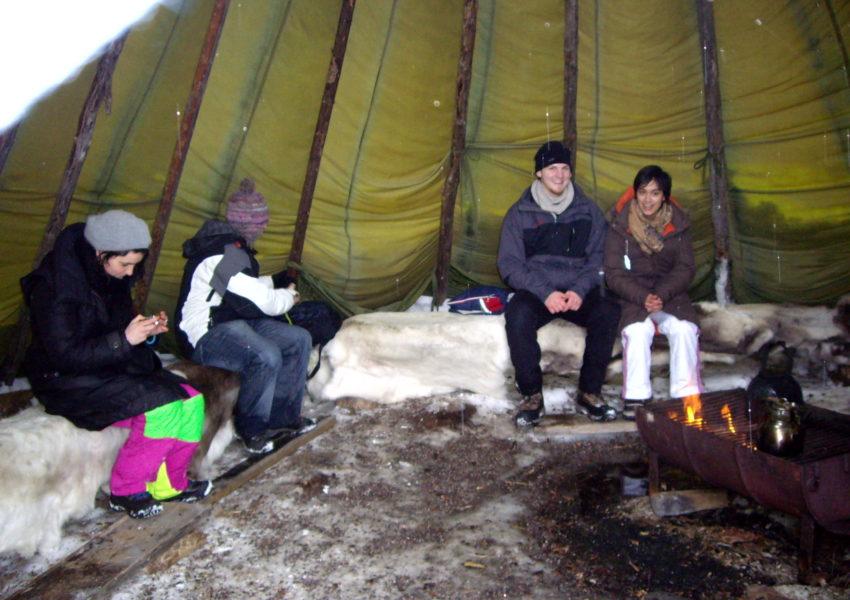 Repos luge tirée par des rennes - Laponie