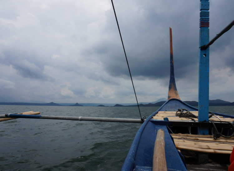Bateau volcan Taal - Philippines