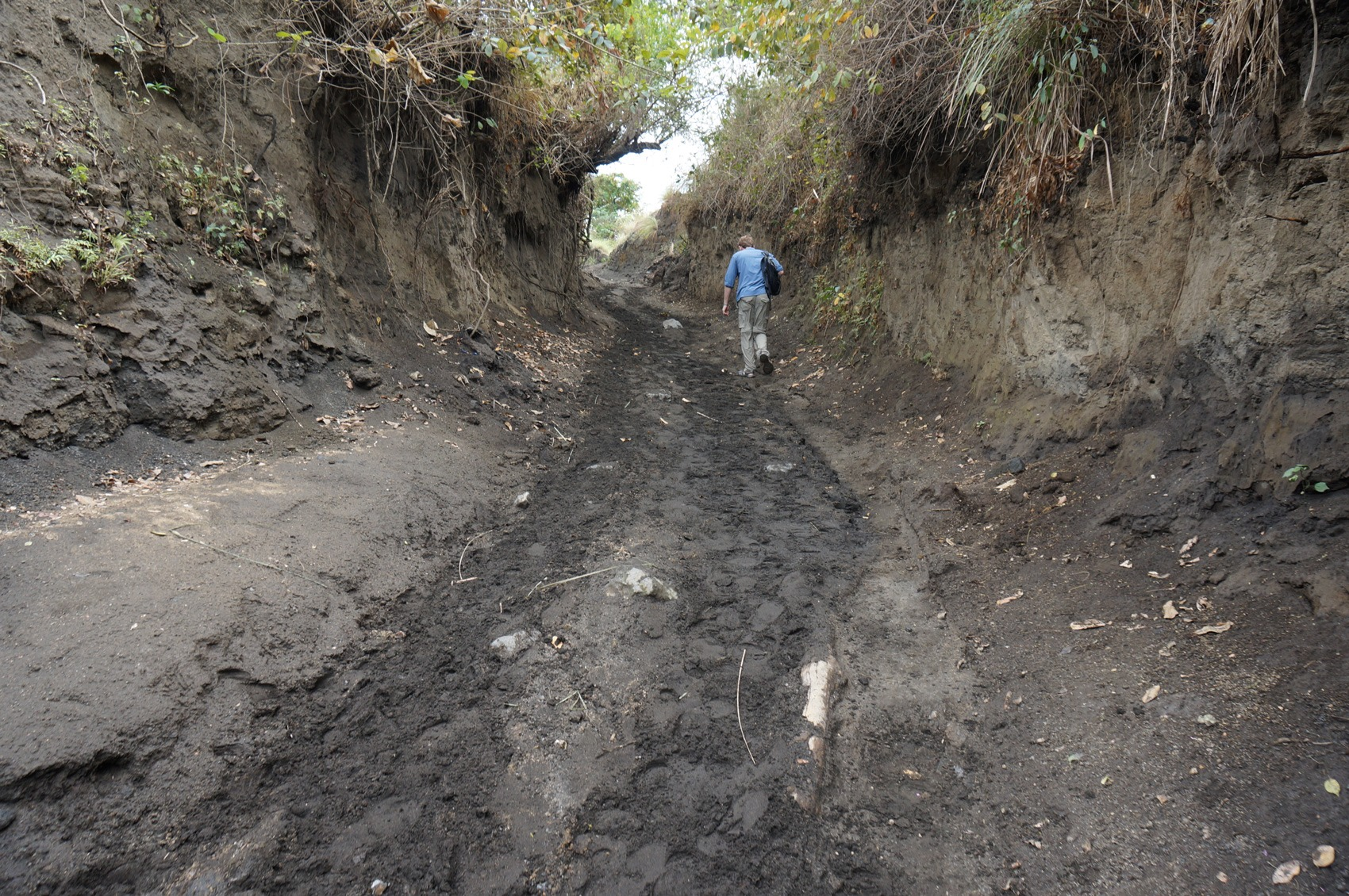 Chemin volcan Taal - Philippines