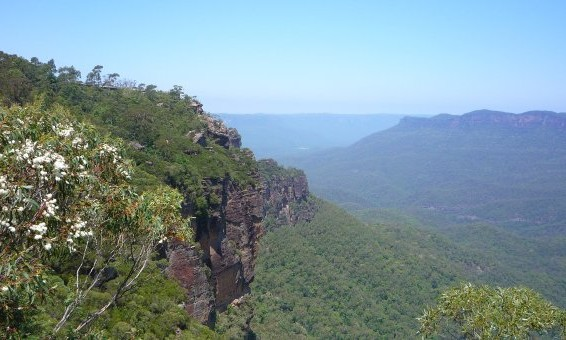 panorama blue mountains australie