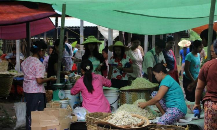Marché itinérant - Lac Inle - Birmanie