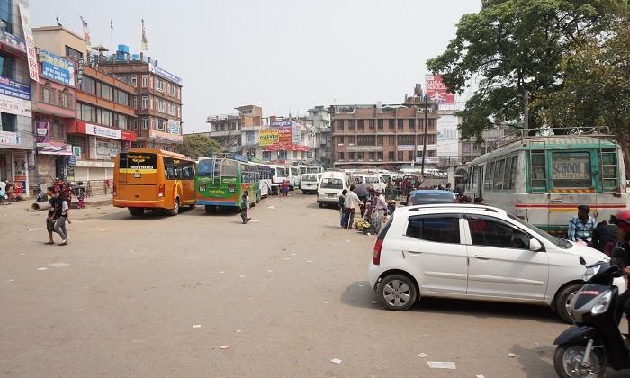 Station de  bus - Patan - Népal
