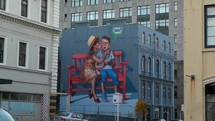 Street art à Dunedin
