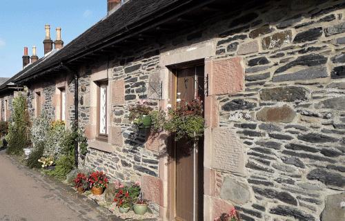 Luss_Loch_Lormond_Ecosse, Luss est un petit village avec des maisons en pierre
