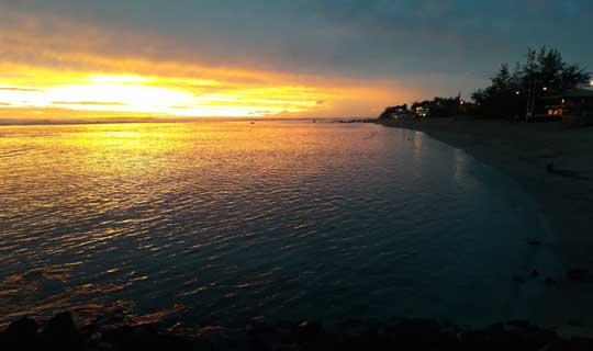 Coucher de soleil Saint Pierre - la Réunion